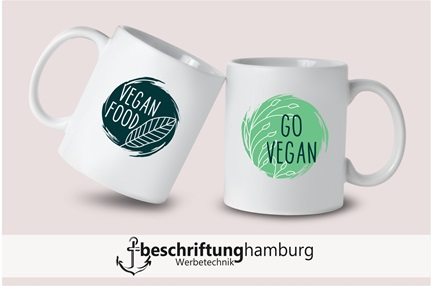 Becherdruck Made in Hamburg - Sublimation Transferdruck